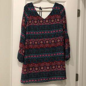 Aztec pattern dress